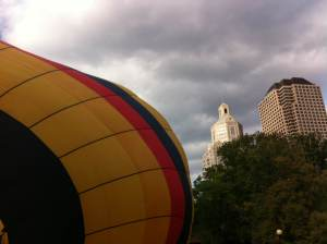 There was a giant hot air balloon that you could walk inside. I didn't, because I value my life.